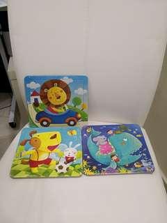 8-12 pcs kid puzzle set (twin pack)