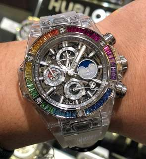 Hublot Big Bang Unico Perpetual Calendar Chronograph Sapphire Rainbow