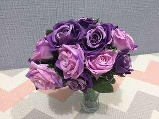 Bunga Mawar Ungu Muda Tua Large