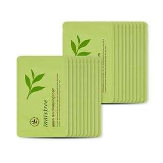 Innisfree Green Tea Cleansing Foam Sachet