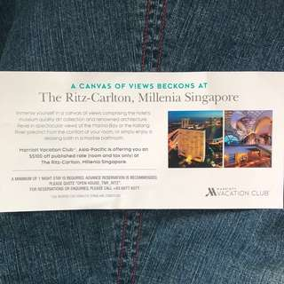 Ritz Carlton Hotel $100 Accomodation Voucher