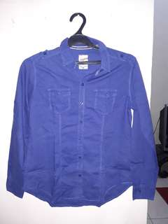 American Jeans hem/kemeja biru tua