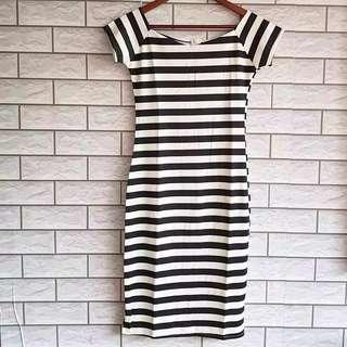 Zebra stripe bodycon dress