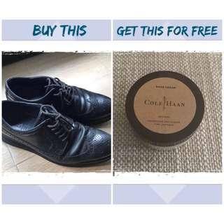 Cole Haan Lunargrand Long Wing + Cole Haan Neutral Shoe Cream