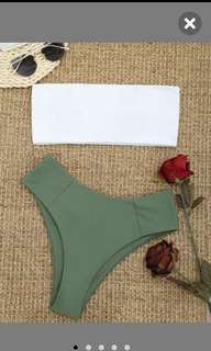 ZAFUL Two Tone Bandeau Bikini Set