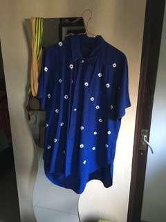 Ahyone Japan Shibori Indigo Dyed Shirt