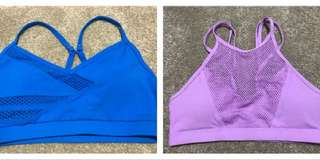 2x LORNA JANE Size S Padded Sports Crop Tops Excellent Condition!
