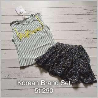 Korean brand set