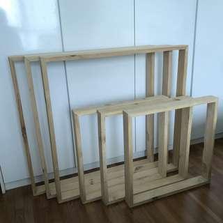 Canvas frame for back support