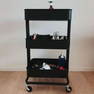 IKEA BLACK TROLLEY