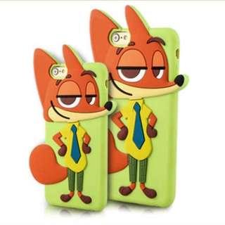 優獸大都會 狐狸阿力 Iphone 6 or  6 PLus 手機殼 ( 軟殼 ) 特價 $50-