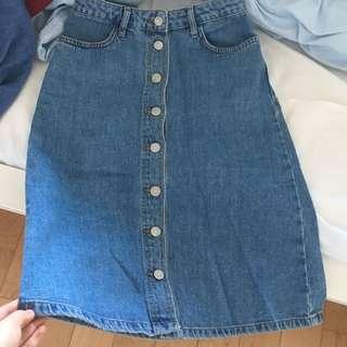 Topshop denim skirt W25