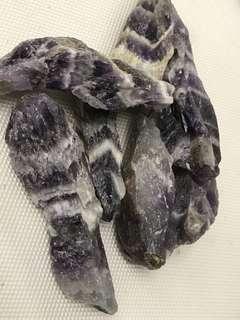 Chevron amethyst rough