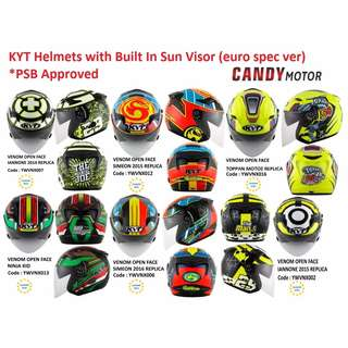 KYT Helmets / euro spec / PSB Approved
