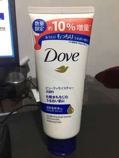 Dove facial cleanser