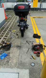 Chain rescue / clutch cable rescue / onsite servicing / onsote bike repair / mobile mechanic / yamaha lc135