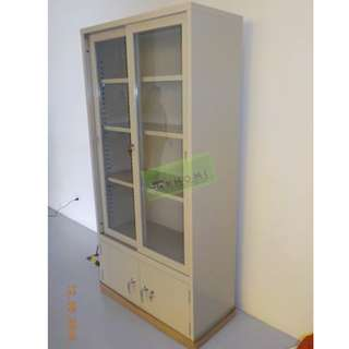 Upper part Sliding glass lower part Swing steel door--KHOMI