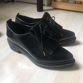 Zara loafer 黑色皮鞋 marni感