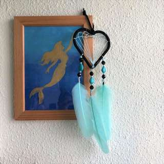 Blue Heart Dreamcatcher