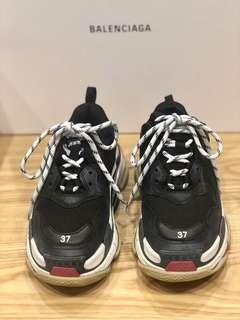 二手正品 Balenciaga Triple S 巴黎世家 老爹鞋 37號