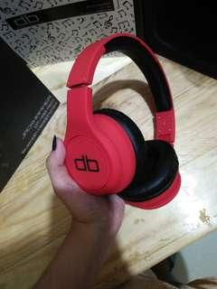 Jackhammer bluetooth headphones red
