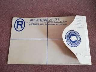 1940's Penang registered letter cover