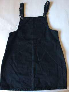 Black overalls dress