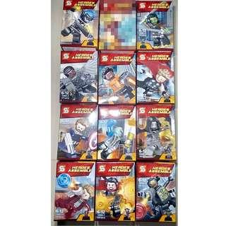 Lego Like Avengers Infinity War Set (11 Figures)