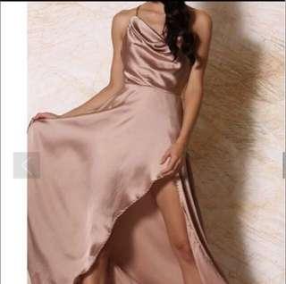 Meshki Freida Satin formal dress BNWT