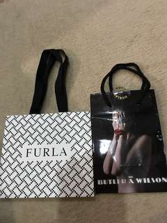 Furla and Butler & Wilson paperbags
