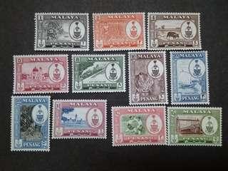 Malaysia Malaya 1960 Penang 2nd Scenes Complete Set  - 11v MLH Stamps