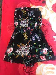 Black flower Jumpsuit