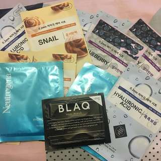 ✨13x Face Masks (Korean/Western mix)