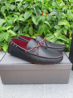 Pedro Leather Front-Tie Moccasins