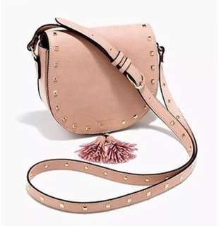 Pink with Stud Detail Cross Body Bag festival