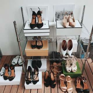 KMART SILVER CLOTHING/SHOE SHELF