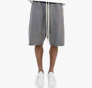 mnml LAX SWEATSHORTS - GREY