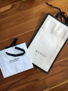 名牌紙袋 Gucci D&G