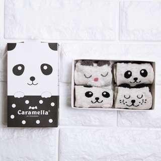 🚚 Instock - 4pairs Panda Socks