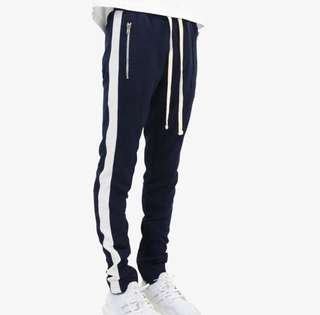 mnml TRACT PANTS Navy/White