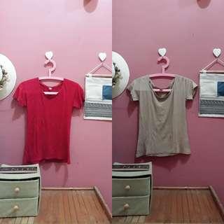 2pcs Basic Tshirt-milo&red