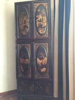 Antique cabinet (3 parts)