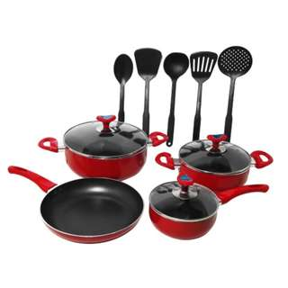 12pc Set Non-stick Coating Cookware with Kitchen Nylon Tools