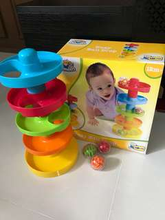 Busy ball drop motor skill toy