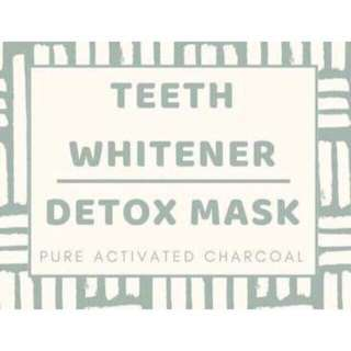 Natural teeth whitener and detox mask (Pure activated charcoal)