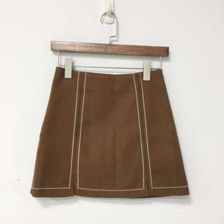 🚚 簡約設計磨毛駝色短窄裙