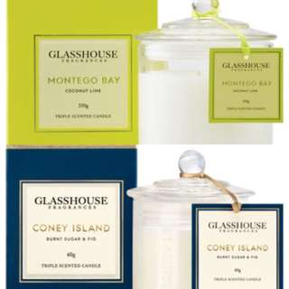 ✨2x Glasshouse Candles (350g + 60g)