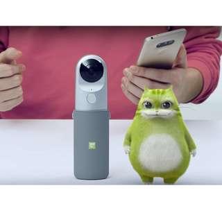 LG 360 CAM環景攝影機LG - R105 可支援 iphone, Android 系統, 100%全新原封