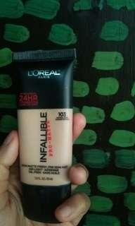 loreal infallible pro matte shade 103