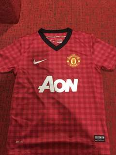 Manchester united 2012/2013 home kit untuk anak-anak size s